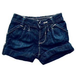 Old Navy Dark Wash Roll-Up Jeans Shorts